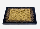 Hand-knited Gold-Thread Cessboard granite base