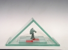 Crystal Pyramid with Bronze Knight
