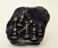Chess trophy 1999-Bronze black patina.