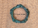 Dual movement wreath -green patina _14