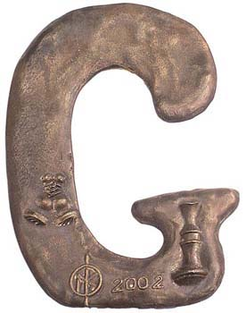 English Bronze Letter G_7