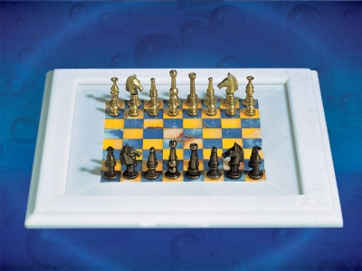 Blue&yellow Chess Board_6