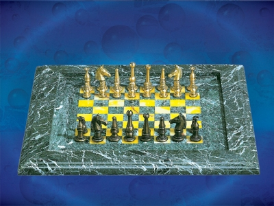 Green&yellow Chess Board_7